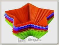 Набор форм для выпечки Тарталетки-звезды Regent inox Silicone 93-SI-S-17.1, 6 штук