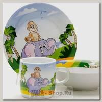 Набор детской посуды Loraine 25600 Слоник, 3 предмета