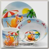 Набор детской посуды Loraine 26095 Белка, 3 предмета