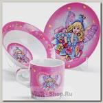 Набор детской посуды Loraine 27337 Ангел, 3 предмета