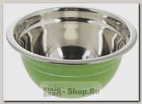 Миска стальная Mayer&Boch 30214-1 18 см, 1.2 литра, зеленая