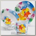Набор детской посуды Loraine 27328 Утка, 3 предмета