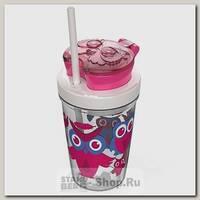 Детский стакан Contigo с трубочкой, розовый, 0.35 литра