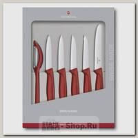 Набор кухонных ножей Victorinox 6.7111.6G, 6 предметов, красный