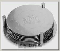 Набор подставок под горячее Stahlberg 9304-S, сталь, 10 см, 6 предметов