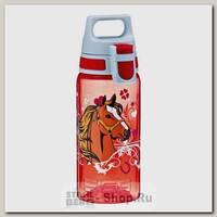 Бутылка для воды детская Sigg Viva One Horses, красная, 0.5 литра