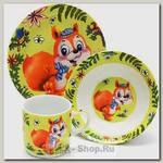 Набор детской посуды Loraine 24025 Белочка, 3 предмета