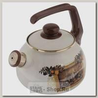 Эмалированный чайник со свистком Metrot Картина 127871 2.5 литра