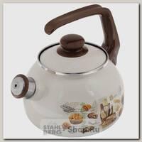 Эмалированный чайник со свистком Metrot Хлеб 131730 2.5 литра