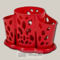 Подставка для столовых приборов Plastic Republic Камелия, 17.7х11х13 см