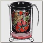 Подставка для столовых приборов Loraine Брусника 28377 13х11х18 см, керамика