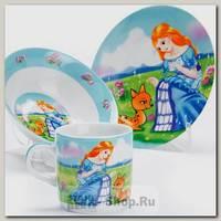 Набор детской посуды Loraine 27343 Принцесса, 3 предмета