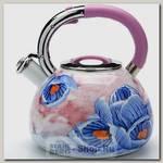 Чайник со свистком Mayer&Boch 23850, 3.5 литра, эмалированный
