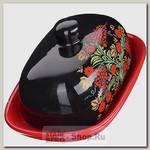 Масленка с крышкой Loraine 28382 Рябина, керамика