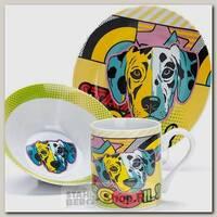 Набор детской посуды Loraine 27124 Собачка, 3 предмета