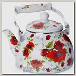 Чайник для кипячения воды Mayer&Boch Розы 27497 2.5 литра, эмалированный
