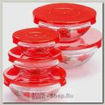 Набор контейнеров для хранения Loraine 26867-1, стекло, 5 предметов