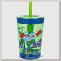 Детский стакан Contigo с трубочкой, зеленый, 0.42 литра