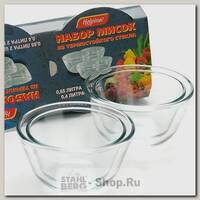 Набор мисок VGP 0627, 4 предмета, термостойкое стекло
