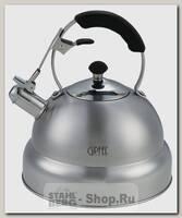 Чайник со свистком GiPFEL Cypress 1130 4.5 литра, нержавеющая сталь
