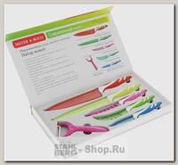 Набор кухонных ножей Mayer&Boch 24148, 6 предметов, разноцветный
