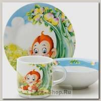 Набор детской посуды Loraine 25601 Обезьянка, 3 предмета