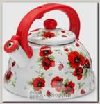 Чайник со свистком Mayer&Boch Цветы 26253 3 литра, эмалированный