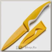 Кухонный нож для овощей Mayer&Boch 24090, лезвие 100 мм, желтый