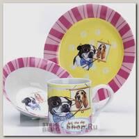 Набор детской посуды Loraine 27119 Собачка, 3 предмета