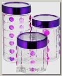 Набор банок для хранения Mayer&Boch 27055, стекло, 3 предмета