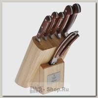 Набор кухонных ножей TalleR Саффолк TR-2001, 7 предметов, в подставке