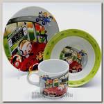 Набор детской посуды Loraine 22857 Гонки, 3 предмета