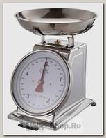 Механические кухонные весы GiPFEL 5687 со стальной чашей, до 5 кг