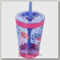 Детский стакан Contigo с трубочкой, розовый, 0.42 литра