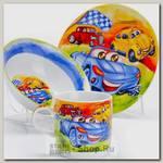 Набор детской посуды Loraine 27332 Авто, 3 предмета