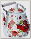 Чайник для кипячения воды Mayer&Boch Розы MB-27502 5 литров, эмалированный