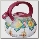 Чайник со свистком Mayer&Boch Узор 27741 3 литра, эмалированный