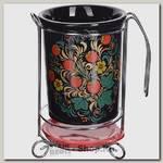 Подставка для столовых приборов Loraine Лесная ягода 28431 13х11х18 см, керамика