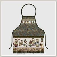 Фартук кухонный Мультидом Матрешки 52х72 см, хлопок