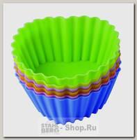 Форма для выпечки силиконовая Тарталетки-сердца Regent inox Silicone 93-SI-S-17.2, 6 штук