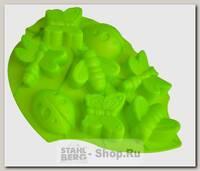 Форма для выпечки Лист Regent inox Silicone 93-SI-FO-105, силиконовая, 8 ячеек, 28х22х3 см