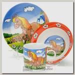 Набор детской посуды Loraine 23389 Лошадка, 3 предмета