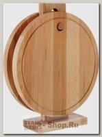 Доска разделочная Mayer&Boch 30-72, дерево, 2 штуки на подставке