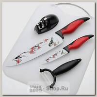 Набор кухонных ножей Mayer&Boch 24112, 5 предметов, красный