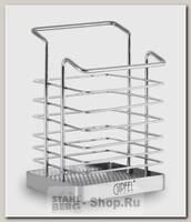 Подставка для столовых приборов GiPFEL 5184, сталь, 10х9х15 см