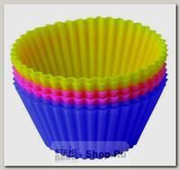 Набор форм для выпечки Тарталетки Regent inox Silicone 93-SI-S-17, 6 штук