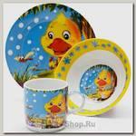Набор детской посуды Loraine 24023 Утёнок, 3 предмета