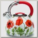 Чайник со свистком Mayer&Boch 23855 3.5 литра, эмалированный