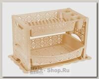 Сушилка для посуды Альтернатива Кружево, 53х34х32 см