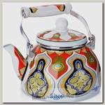 Чайник для кипячения воды Mayer&Boch Узор 27495 2.5 литра, эмалированный